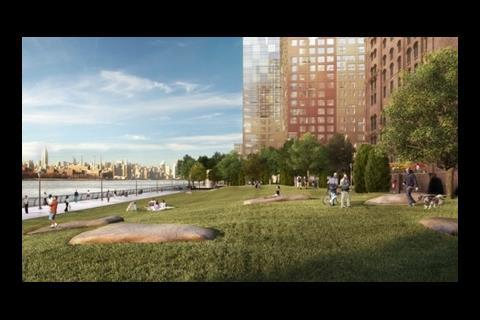 Riverside park view of the New Domino